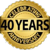 40 years badge