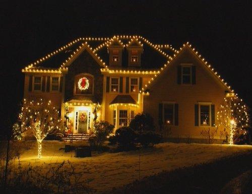 Christmas Lights House Outline