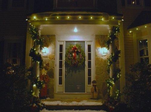 Christmas Lights Front Door